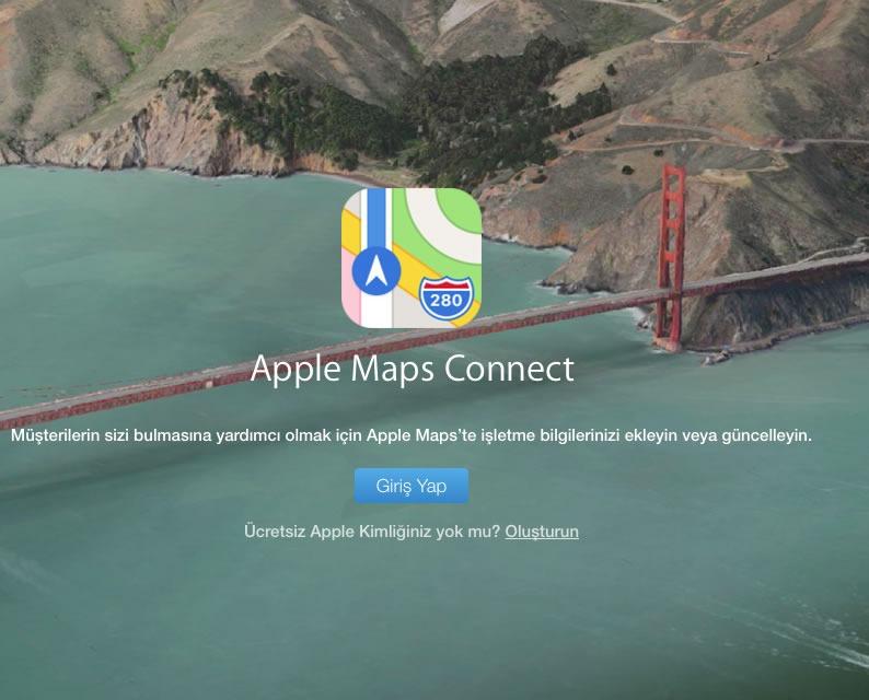 apple harita kayıt